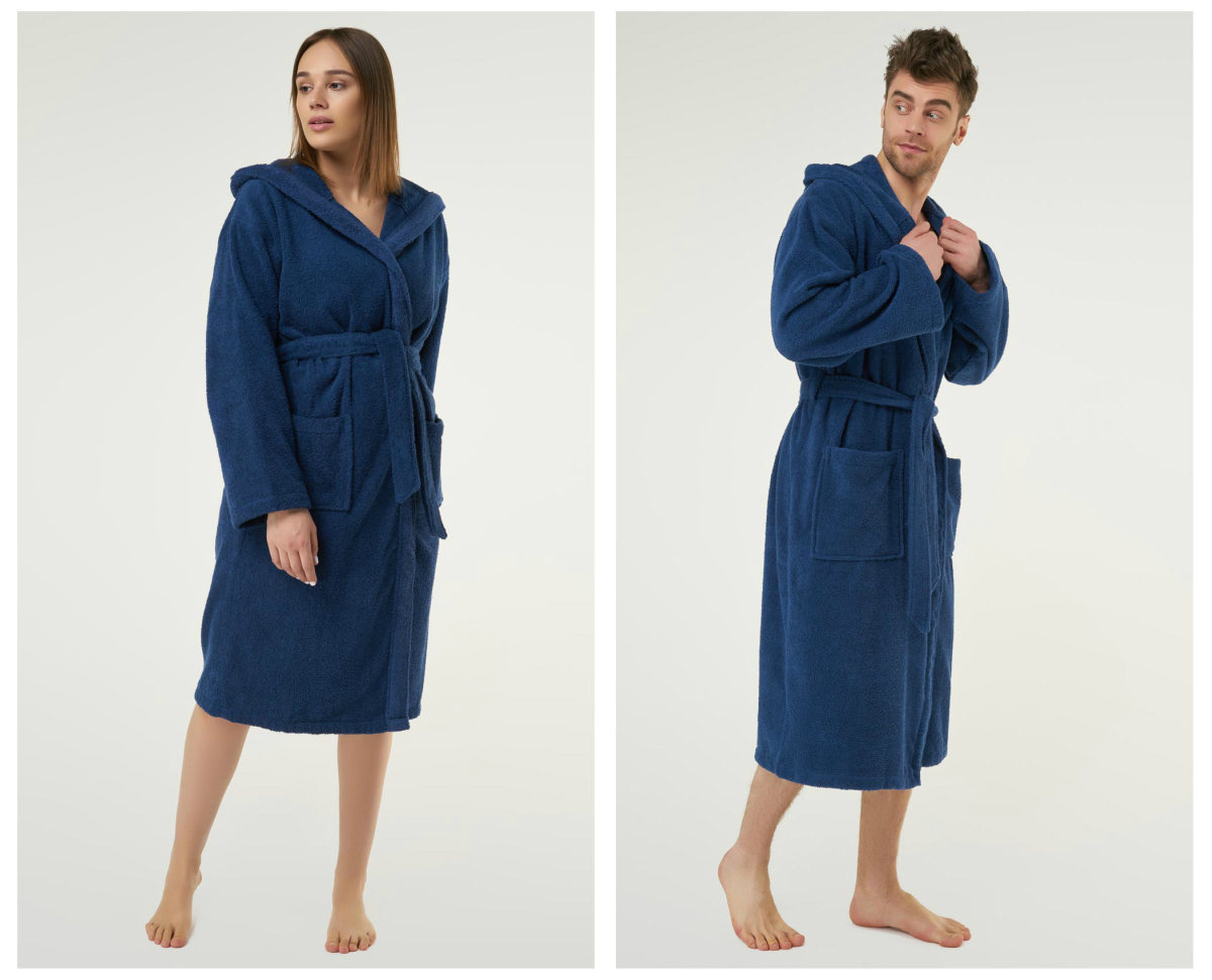 Hooded terry bathrobe | Bathrobe Size Chart: Guide To Choosing Robe That Fits You