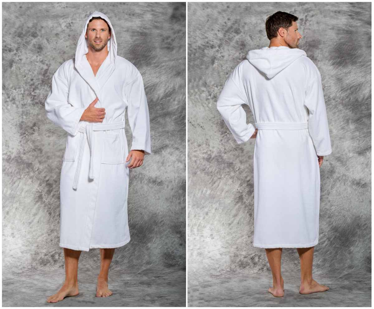 white hooded terry velour robe | Best Luxury Hotel-Quality Bathrobes That Won't Break The Bank | best bathrobe | luxury robes
