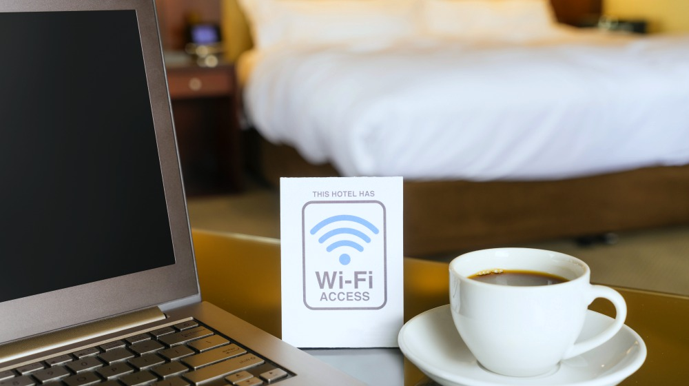 hotel room wifi access sign | Ways To Improve Hotel Guest Experience | hotel guest | hotel guest satisfaction