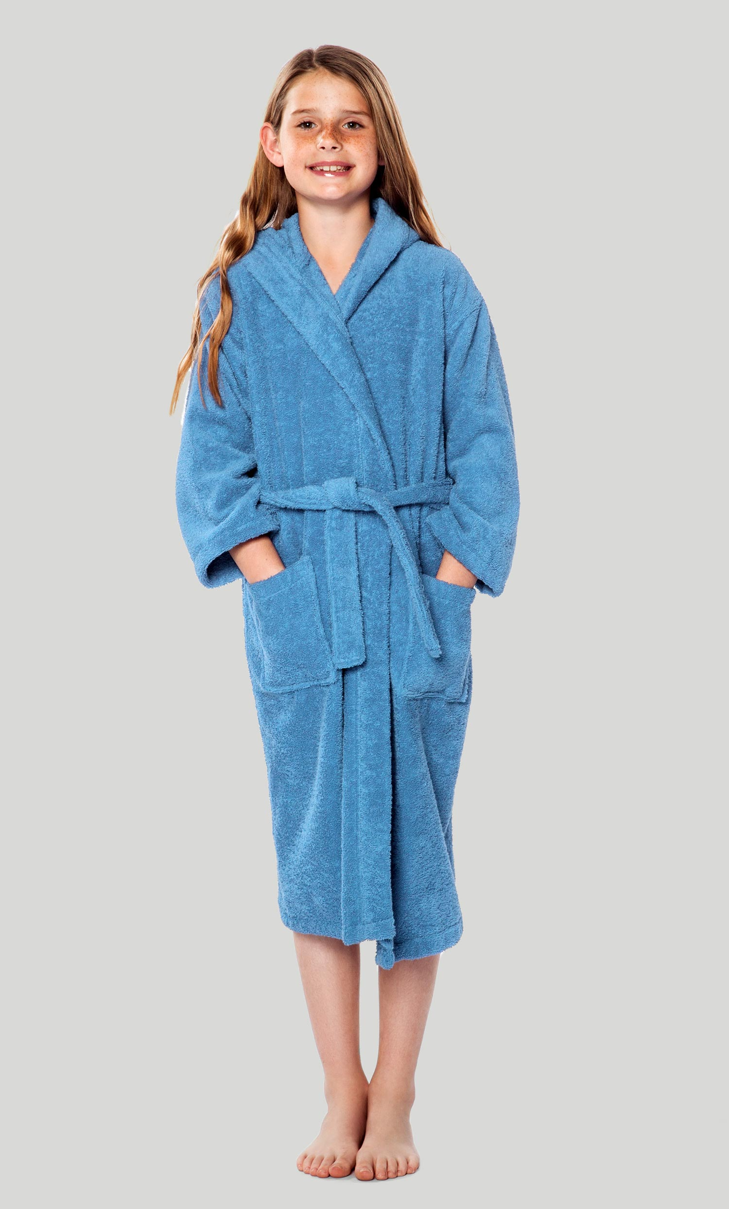 cd7d133ec3 Kids Bathrobes    Terry Kids Hooded Bathrobes    100% Turkish Cotton Light  Blue Hooded Terry Kid s Bathrobe - Wholesale bathrobes