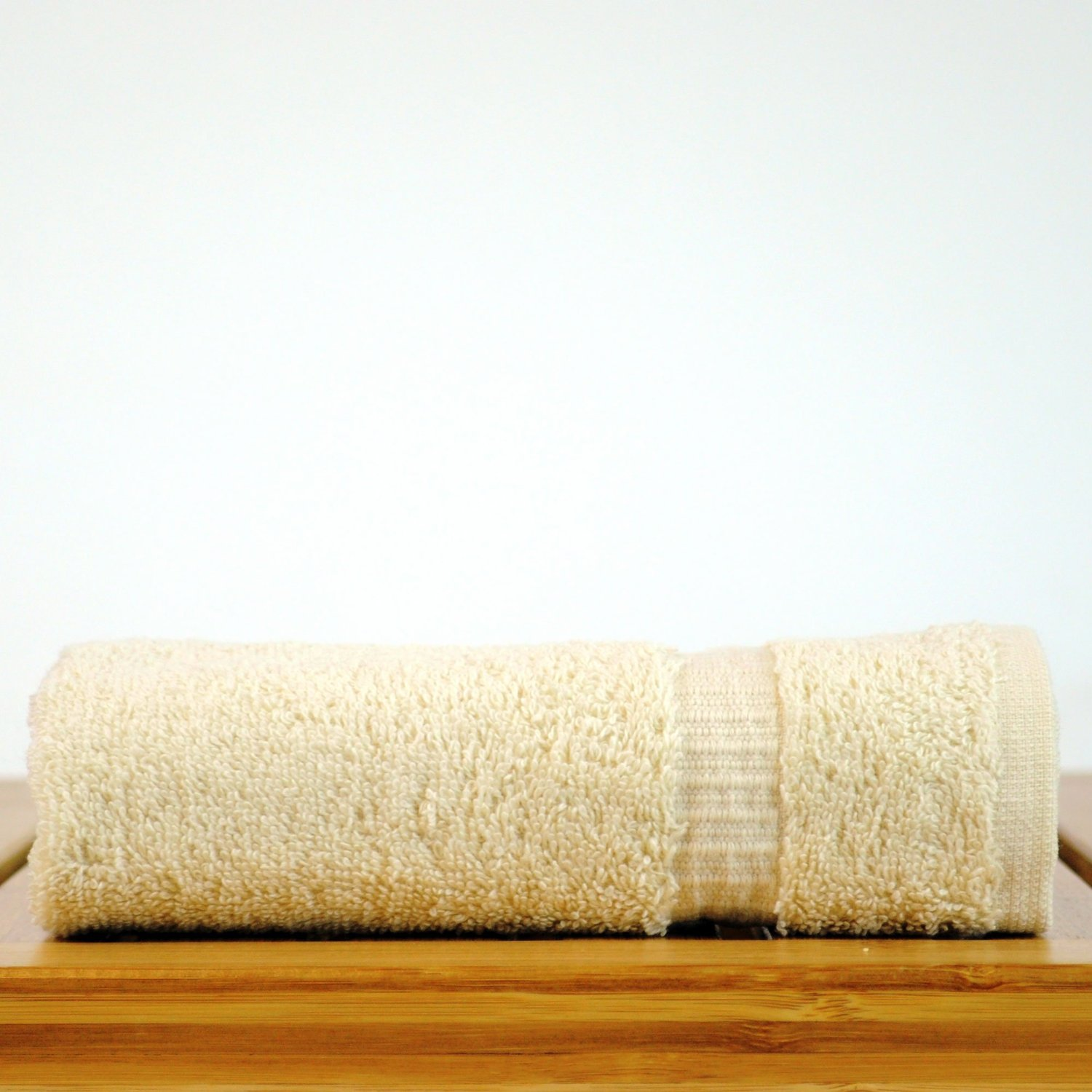 "13"" x 13"" - 1.7 lbs/doz - %100 Turkish Cotton Beige Washcloth - Dobby Border - 12 Pack (Dozen)-Robemart.com"