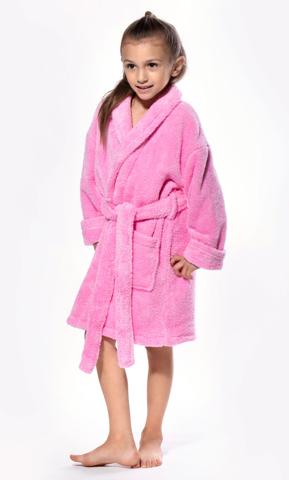 Pink Plush Super Soft Fleece Shawl Kid's Robe-Robemart.com