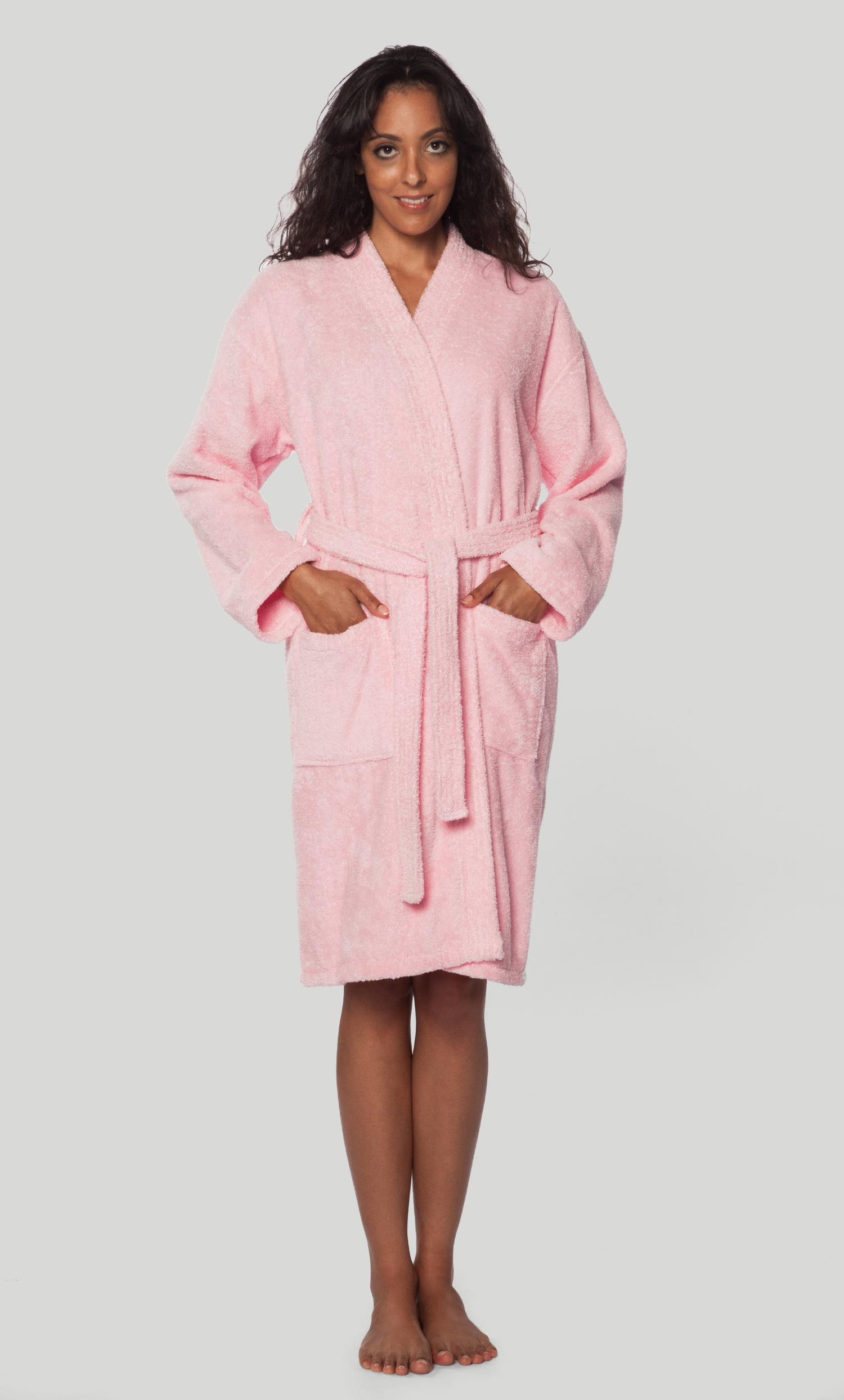 1bb37200d1 Economy Bathrobes    Terry Kimono Bathrobes    100% Turkish Cotton Pink  Terry Kimono Bathrobe - Wholesale bathrobes