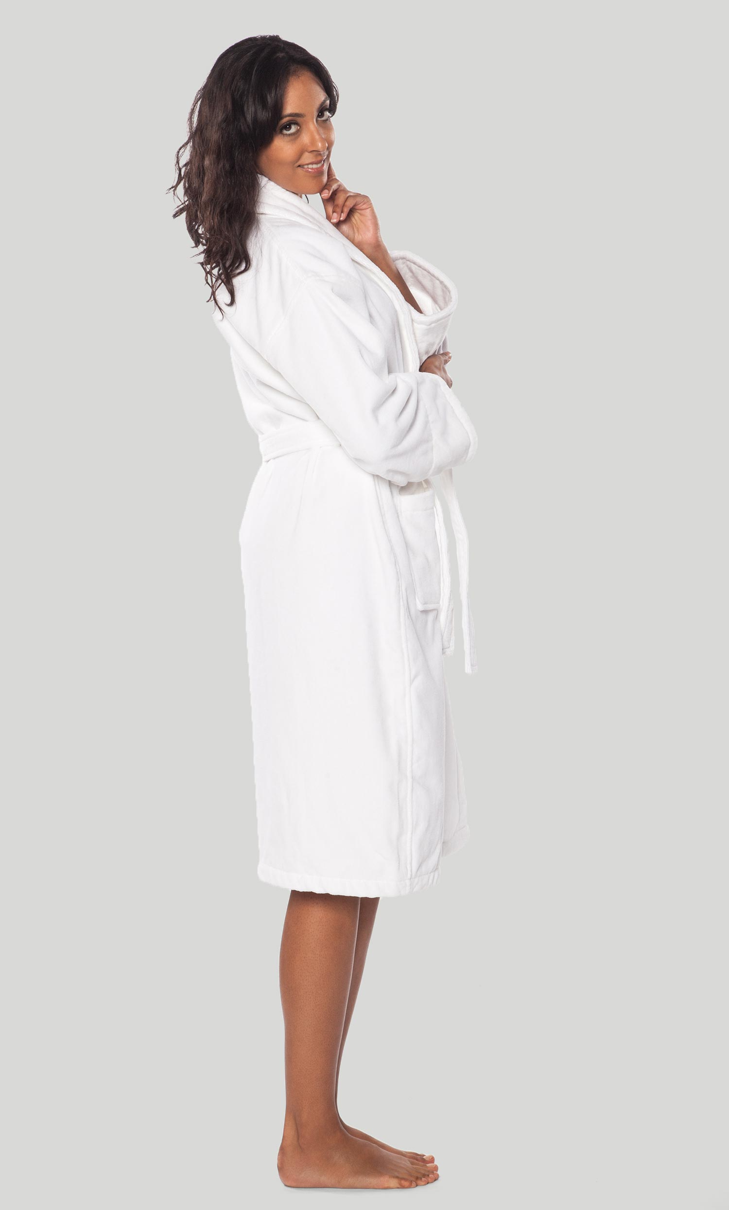 Premium Bathrobes :: Terry Velour Bathrobes :: Terry Velour Shawl ...