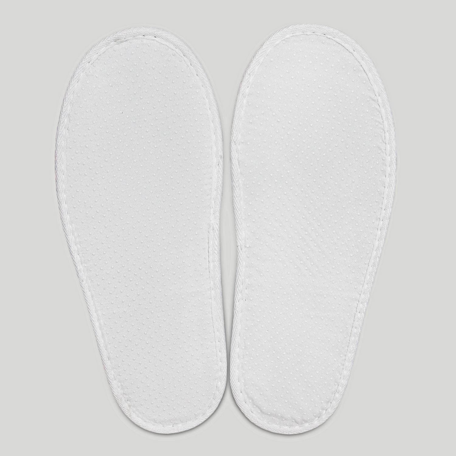 White Thong Adult Plush Slippers-Robemart.com