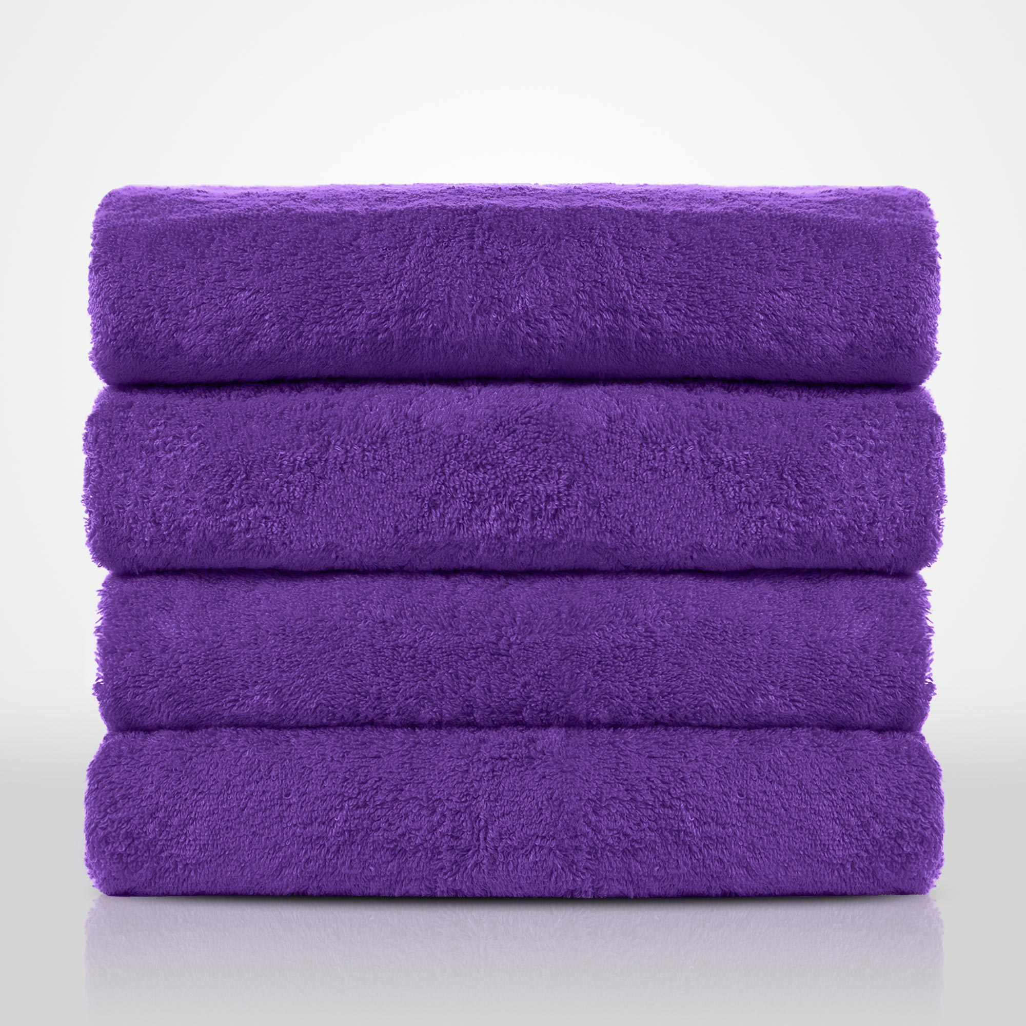 "35""x 60"" - 100% Turkish Cotton Purple Terry Bath Towel-Robemart.com"