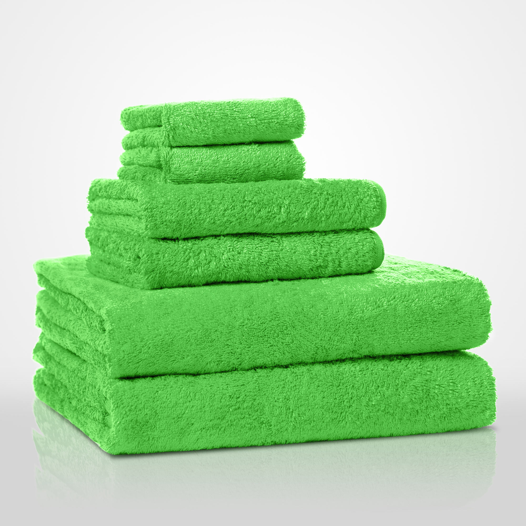 "16"" x 29"" - 100% Turkish Cotton Lime Green Terry Hand Towel-Robemart.com"