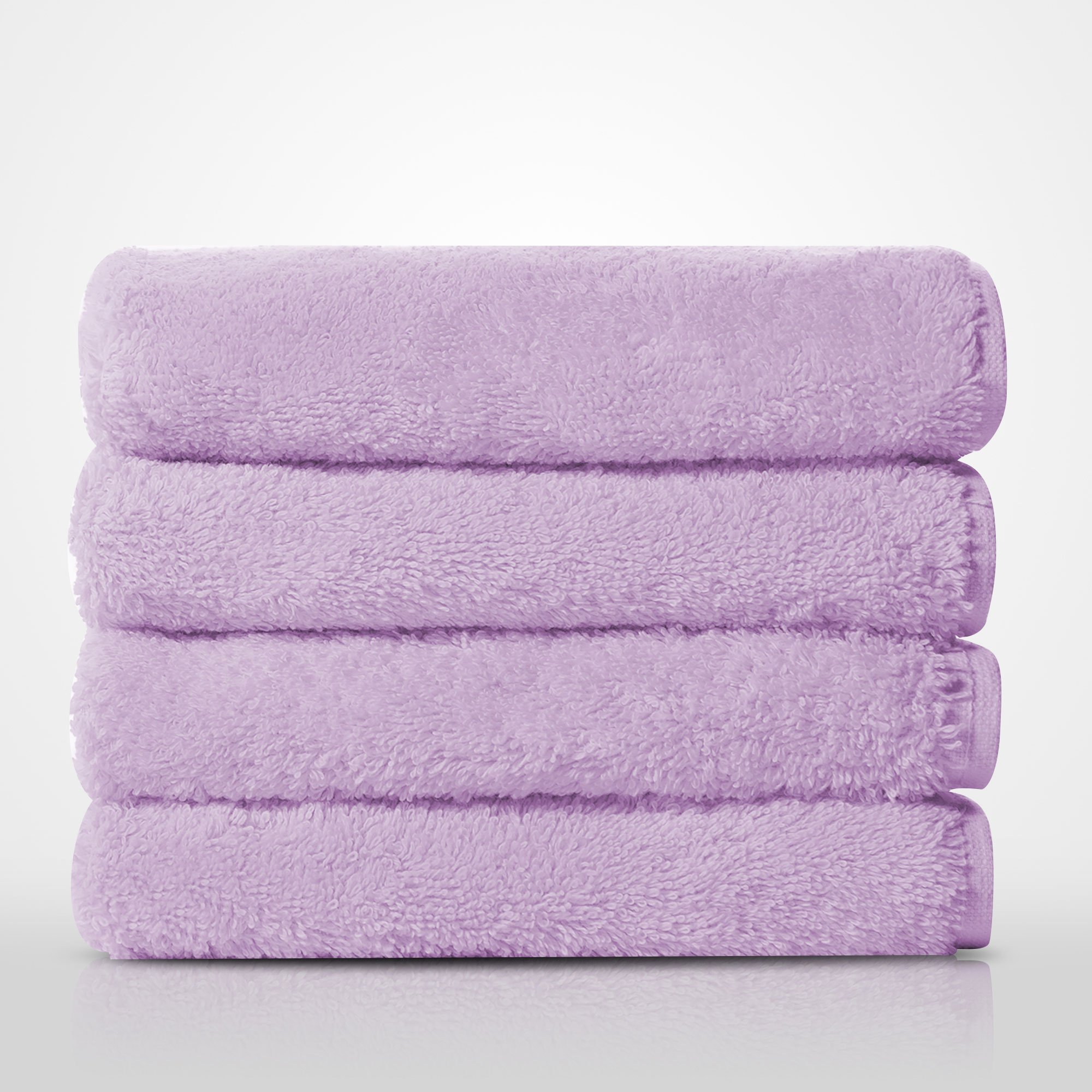 "16"" x 29"" - 100% Turkish Cotton Lavender Terry Hand Towel-Robemart.com"