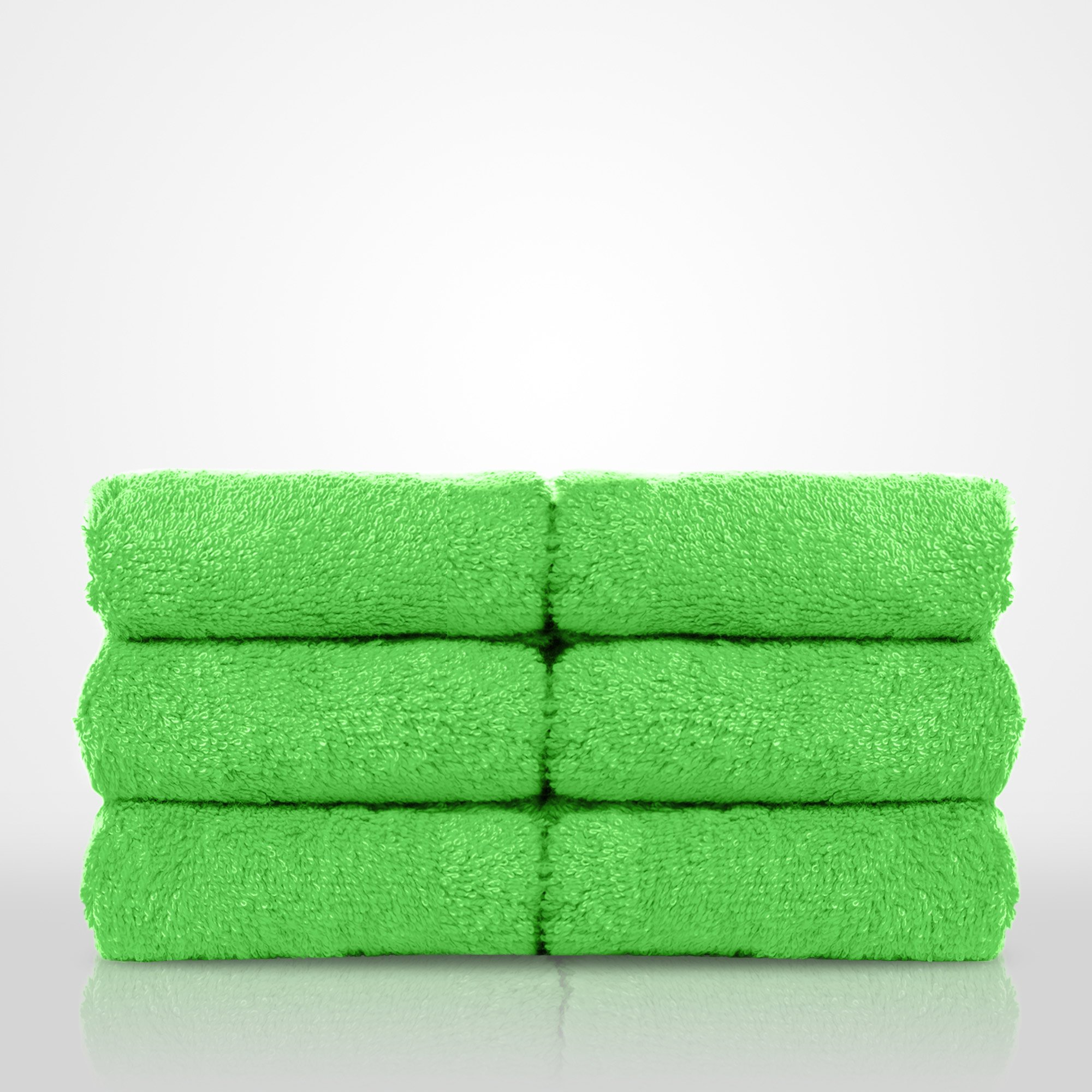 "13"" x 13"" - 100% Turkish Cotton Lime Green Terry Washcloth-Robemart.com"