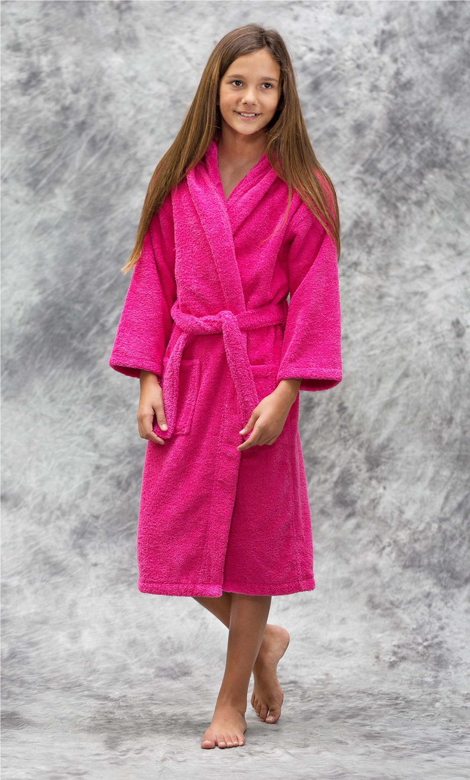 6a99a55dff Kids Bathrobes    Terry Kids Hooded Bathrobes    100% Turkish Cotton  Fuchsia Hooded Terry Kid s Bathrobe - Wholesale bathrobes