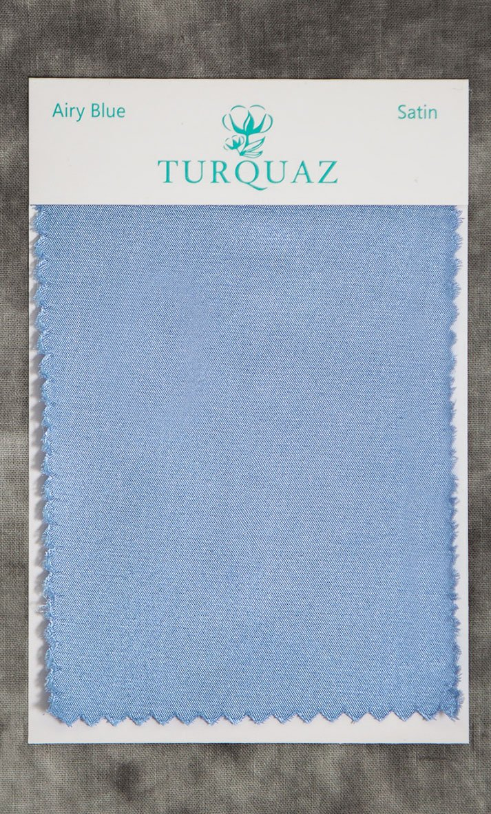 a6894835423 Airy Blue Satin Fabric Swatch - Free Shipping
