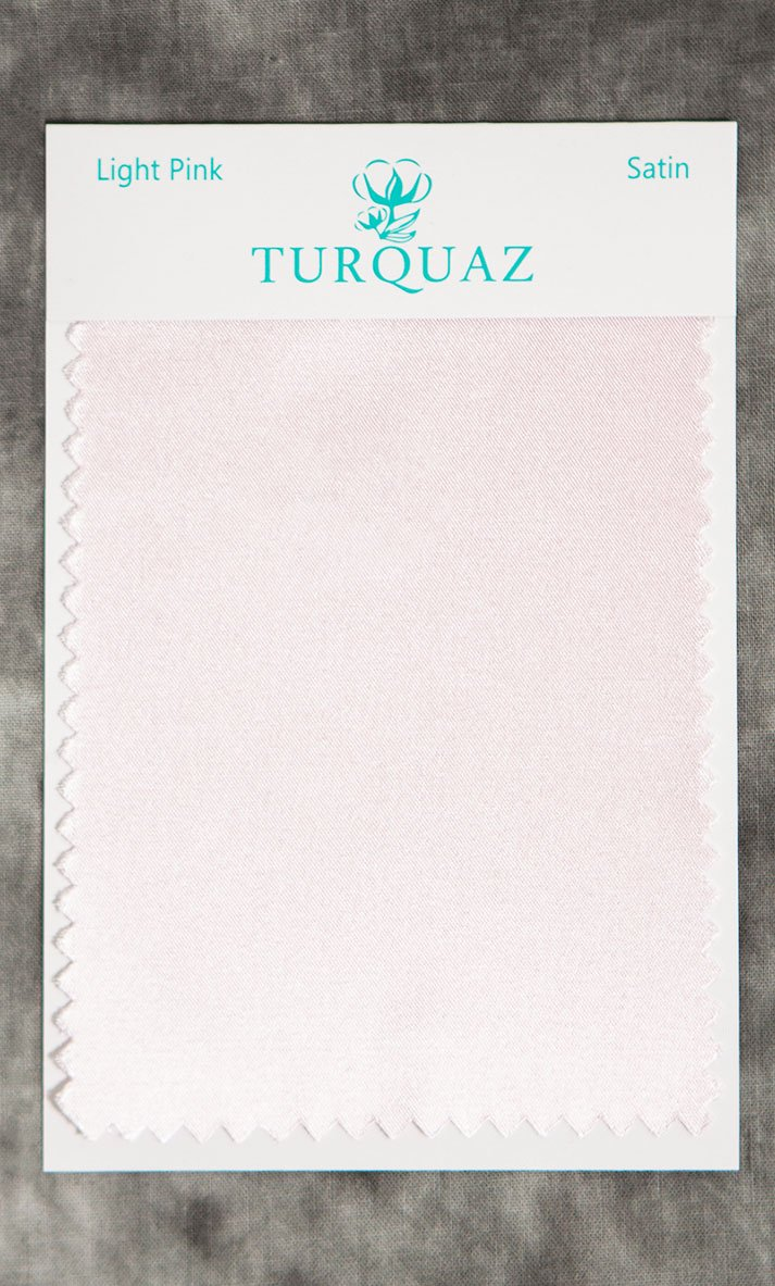 Light Pink Satin Fabric Swatch - Free Shipping-Robemart.com
