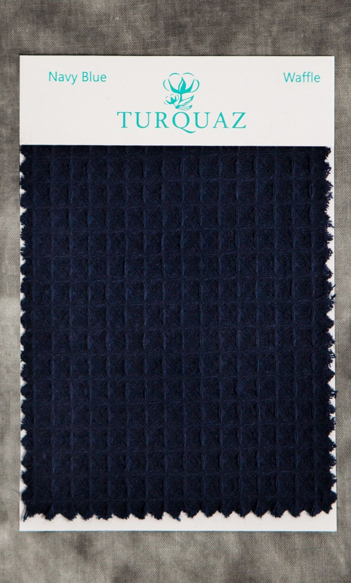Navy Blue Waffle Fabric Swatch - Free Shipping-Robemart.com