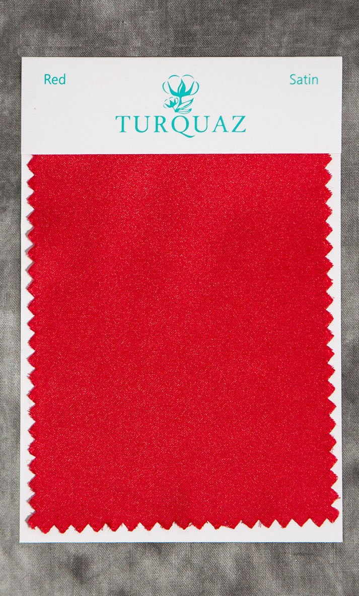 Red Satin Fabric Swatch - Free Shipping-Robemart.com
