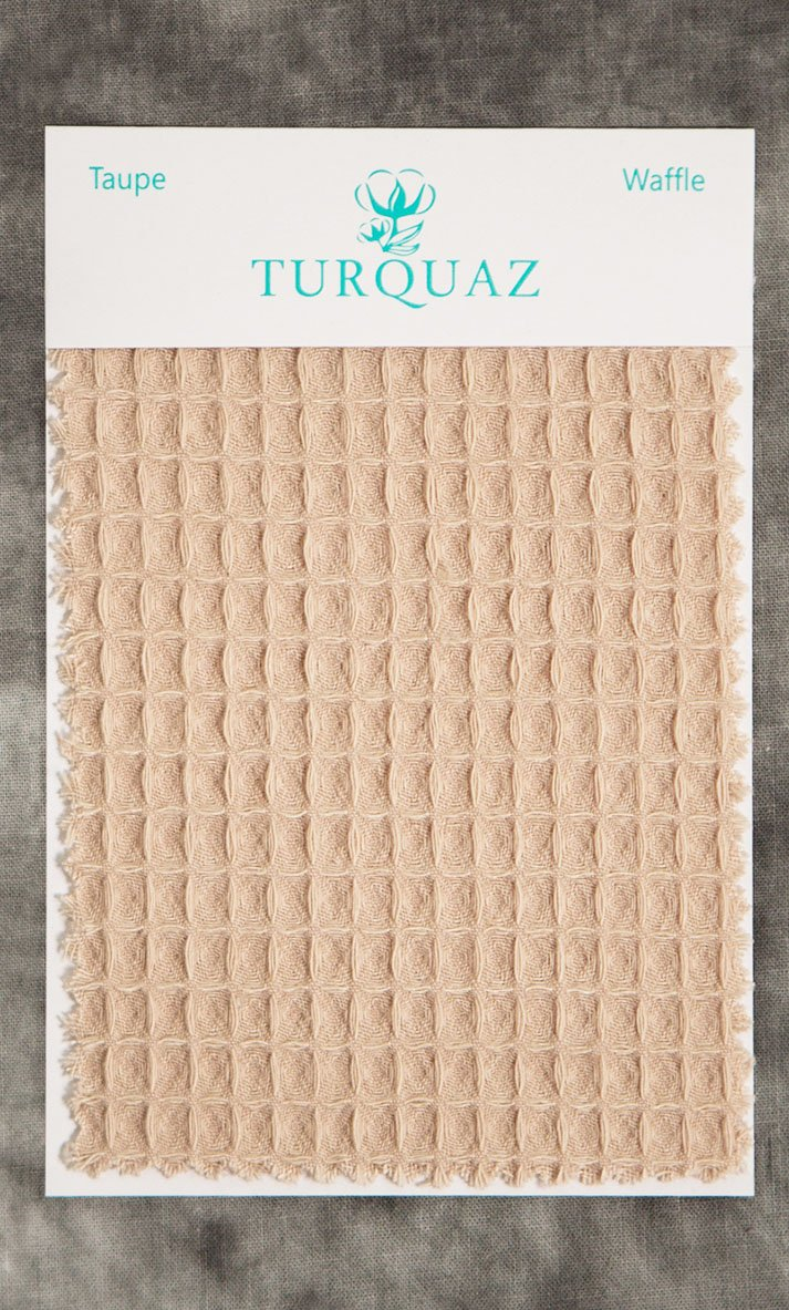f77a4343fd2 Taupe Waffle Fabric Swatch - Free Shipping
