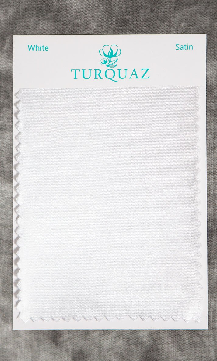 White Satin Fabric Swatch - Free Shipping-Robemart.com