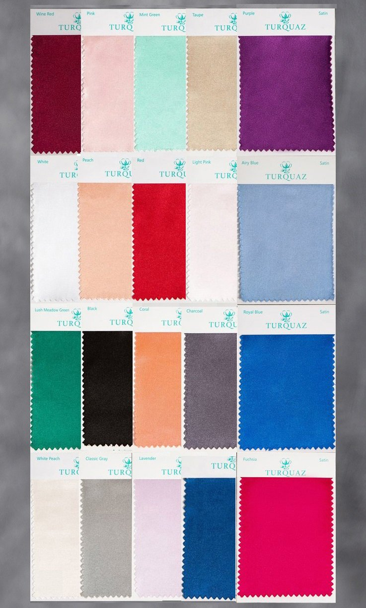 Satin Fabric Swatch Set - All Colors - Free Shipping-Robemart.com