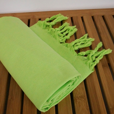 Lime Green Turkish Peshtemal Towel-Robemart.com