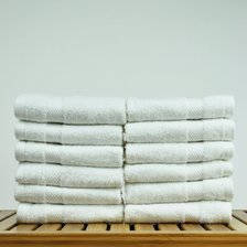 "13"" x 13"" - 1.7 lbs/doz - 100% Turkish Cotton White Washcloth - Honeycomb Border - 12 Pack (Dozen)-Robemart.com"