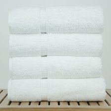 "27""x54"" - 17 lbs/doz - %100 Turkish Cotton White Bath Towel - Dobby Border-Robemart.com"