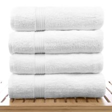 "27"" x 54"" - 17 lbs/doz - 100% Cotton Eco White Bath Towel-Robemart.com"