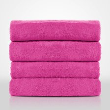 "35""x 60"" - 100% Turkish Cotton Fuchsia Terry Bath Towel-Robemart.com"