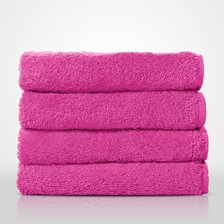 "16"" x 29"" - 100% Turkish Cotton Fuchsia Terry Hand Towel-Robemart.com"