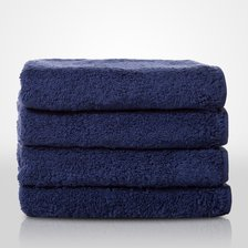 "16"" x 29"" - 100% Turkish Cotton Navy Blue Terry Hand Towel-Robemart.com"
