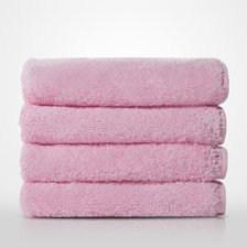 "16"" x 29"" - 100% Turkish Cotton Pink Terry Hand Towel-Robemart.com"