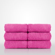"13"" x 13"" - 100% Turkish Cotton Fuchsia Terry Washcloth-Robemart.com"