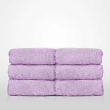 "13"" x 13"" - 100% Turkish Cotton Lavender Terry Washcloth-Robemart.com"