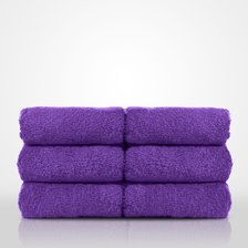 "13"" x 13"" - 100% Turkish Cotton Purple Terry Washcloth-Robemart.com"