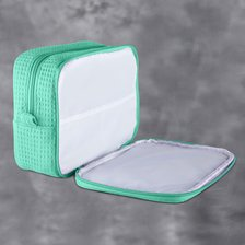 Mint Green Waffle Large Makeup Bag-Robemart.com