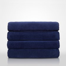 "35"" x 60"" - 100% Turkish Cotton Terry Velour Navy Blue Pool / Beach Towel-Robemart.com"