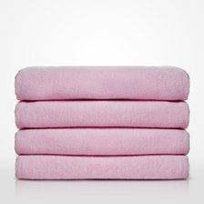 "35"" x 60"" - 100% Turkish Cotton Terry Velour Pink Pool / Beach Towel-Robemart.com"