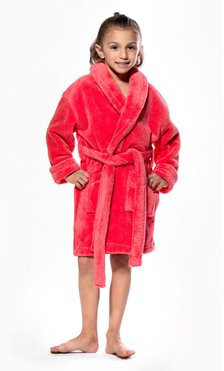 Coral Plush Super Soft Fleece Shawl Kid's Robe-Robemart.com