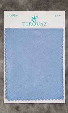 Airy Blue Satin Fabric Swatch - Free Shipping-Robemart.com