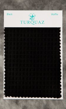 Black Waffle Fabric Swatch - Free Shipping-Robemart.com
