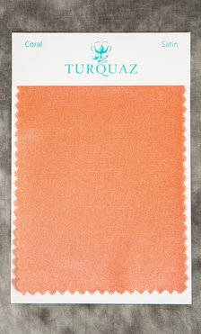 Coral Satin Fabric Swatch - Free Shipping-Robemart.com