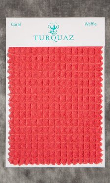 Coral Waffle Fabric Swatch - Free Shipping-Robemart.com