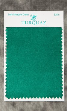 Lush Meadow Green Satin Fabric Swatch - Free Shipping-Robemart.com