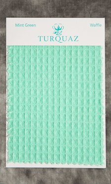 Mint Green Waffle Fabric Swatch - Free Shipping-Robemart.com