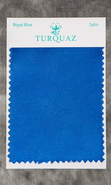 Royal Blue Satin Fabric Swatch - Free Shipping-Robemart.com