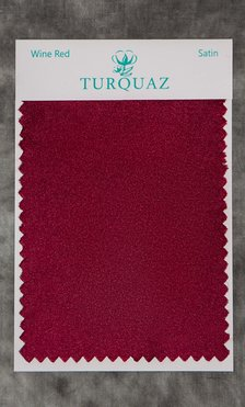 Wine Red Satin Fabric Swatch - Free Shipping-Robemart.com