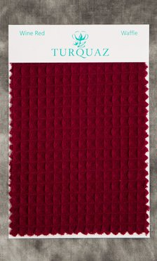 Wine Red Waffle Fabric Swatch - Free Shipping-Robemart.com